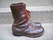 ORIGINAL WWII US ARMY PARATROOPER CAP TOE JUMP MEN'S COMBAT LEATHER BOOTS Size 9