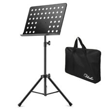 Extra-Wide Bookplate Sheet Music Stand Thicker Metal Higher Stability &Carry Bag