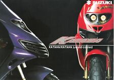 Suzuki AY50 AY50W GB Sales Brochure Katana 1997