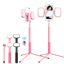 Selfie Stick Bluetooth Universal Tripod With Light Aluminum For Android Phones