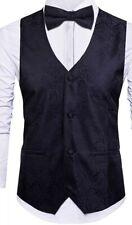 Men's Dress Black Vest, Tuxedo  Bow tie, Neck Tie Size 2xl  Paisley Slim Fit