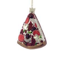 NB0004 Noble Gems Pizza Slice Glass Ornament Mushroom Pepperoni Pepper Onion