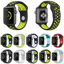 Breathable Replacement Silicone Sport Band Strap 4 Nike+ Apple iWatch 44mm NEW