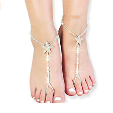 Jewelry White Sea Star Barefoot Anklet 1 Pair Women Starfish Anklets Beach