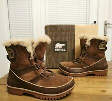 💯Genuine Sorel Tivoli ll Tabacco Suede Waterproof Insulated Boots Worn Once 4.5
