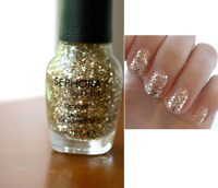 Sephora by OPI ONLY GOLD FOR ME Glitter Top Coat Nail Polish Lacquer SE 451 New!