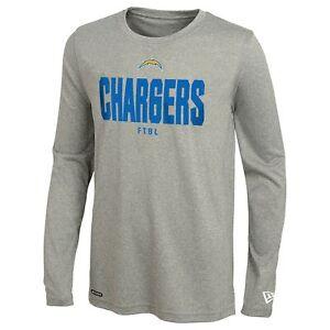 New Era NFL Football Men's Los Angeles Chargers Grids Dri-Tek Long Sleeve Tee