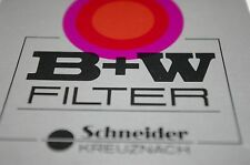 NEW GENUINE B+W SCHNEIDER 72mm SLIM CLEAR UV SC 010 GLASS FILTER METAL RING
