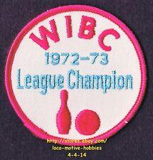 LMH PATCH Badge 1972 1973 WIBC LEAGUE CHAMPION Womens Int'l Bowling Congress ABC