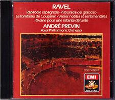 PREVIN: RAVEL Valses Rapsodie Espagnole Alborada Le Tombeau Couperin Pavane CD
