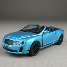 2010 Bentley Continental Convertible Blue 1:38 Scale Diecast Model Car Detailed