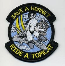 F-14 TOMCAT FIGHTER Shoulder Sleeve Insignia Baby: Save a Hornet - Ride a Tomcat