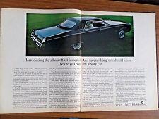 1969 Chrysler Imperial Le Baron 4 Door Hardtop Ad