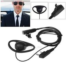2 Pin G-Shape Earpiece Headset MIC PTT for KENWOOD BAOFENG PUXING HYT 888S Radio