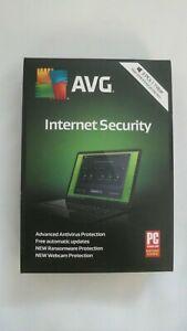 GENUINE AVG Internet Security 3 PCs 1 Year Windows With Free Updates