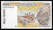 World Paper Money - West African States Senegal 1000 Francs 2002 @ Crisp Vf