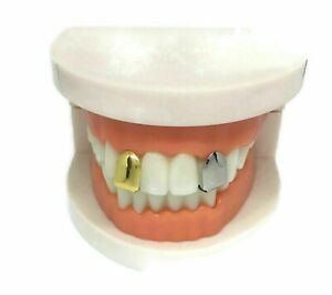 Self-Fitting Single Tooth Cap l FREE UK POST  Gold Silver Grillz Grills Gangster