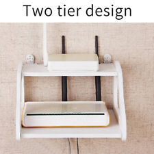 Home Accessories TV Box Shelf Router Holder Practical Wall Mount Double Layer