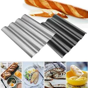 2021 Bread Baking Tray Mold Loaf Tin Non-Stick Baguette Mould Cake Pan Baking HO