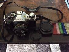 Canon AE-1 Program Camera w/ FD 50mm F/1.8 Lens Sporty Grip - Nice condition