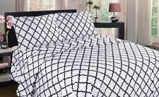 SALE SALE !!! GEOMETRIC LANC BED SHEET SET FLAT FITTED DEEP POCKET 2 PILLOW