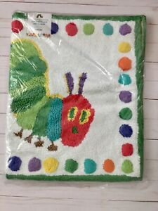 POTTERY BARN KIDS Eric Carle Very Hungry Caterpillar Bathmat mat Rug rainbow HTF