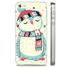 Christmas Owl Snowy Cute CLEAR PHONE CASE COVER fits iPHONE 5 6 7 8 X