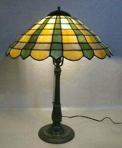 MILLER leaded glass Lamp - Handel Tiffany arts crafts nouveau slag stained glass