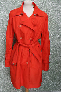 159/7 CINQUE Damen Kurzmantel Trenchcoat Gr. 42 orange Mantel Mod. Cisunny