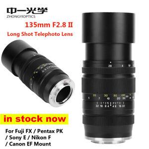 Zhongyi Mitakon Creator 135mm f/2.8 II Lens for Canon EF Nikon F Pentax K Sony E