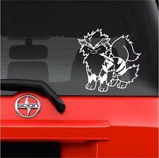 "Vinyl Decal Sticker. Car, Window, Wall... Pokemon 059 Arcanine (7"" x 7"")"