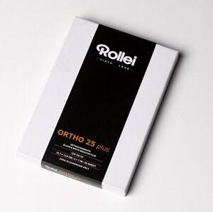 "✅ ROLLEI 5x7"", 13x18cm CUT SHEET FILM ORTHO ISO 25 PLUS BLACK & WHITE SEALED BOX"