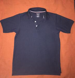 French Toast Boys 10-12 Navy Blue Polo T-shirt School Uniform
