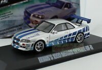 1:43 Scale Greenlight Fast & Furious Brian's 1999 Nissan Skyline GT-R 86208
