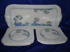Beautiful Royal Doulton 'Wynn' 7 Piece Sandwich Set (D5501)