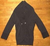 Banana Republic Women's Gray 3/4 Sleeve Cowl Neck 1 Button Sweater - Size: XS