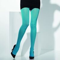 Ladies Blue Opaque Fancy Dress Tights by Smiffys