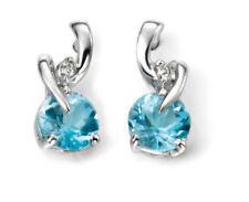 Orecchini con diamanti di colore fantasia topazio
