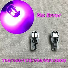 License Plate Light T10 8 LED Wedge 194 2825 168 12961 Purple W1 For Nissan J