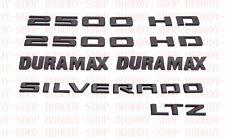 2020 Chevrolet New Body Silverado 2500 HD LTZ Duramax Black Emblem Kit OEM
