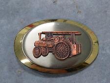 Vintage CASE 110 65 STEAM Engine Traction Tractor Belt Buckle Brass NICE!