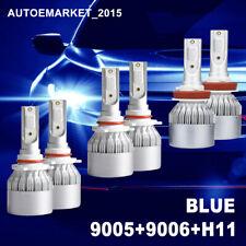 6X 9005 + 9006 + H11 600W 12000K Blue LED Headlight Bulb High Low Beam Foglight