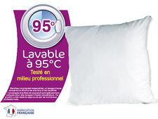 LOT DE 2 OREILLERS 60x60 A BOUILLIR LAVABLE A 95°. POUR PLUS D'HYGIENE !