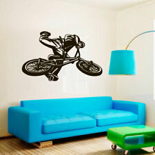 Wall Decal BMX Rider Sticker Bike Bicycle X Games Racing Cycle Jump Teen M1656