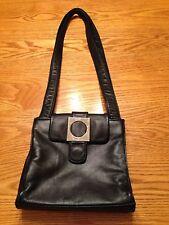 Vintage GUESS Small BLACK Faux Leather Purse Bag Handbag  Shoulder Pocketbook