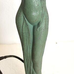 Art Nouveau Figural Lady Lantern Lamp