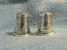 LOT 2 GORGEOUS VINTAGE STERLING SILVER THIMBLES FROM PERU
