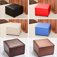 Luxury PU Leather Footstool Ottoman Pouffe Stool Foot Rest Padded Seat Bedroom