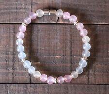 Morganite Healing Semiprecious Zen Chakra Gemstone Bracelet W/Magnetic Clasp