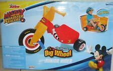 Disney MICKEY MOUSE and the ROADSTER RACERS Junior Rider BIG WHEEL Ride-On Bike